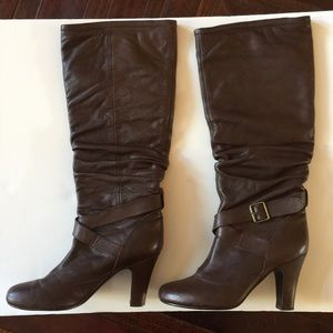 608bc43ffda Steve Madden Leather Brown Boots Size 40